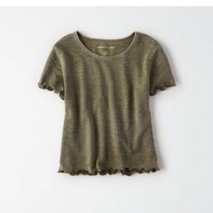 American Eagle AE crop top baby tshirt NWT S
